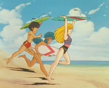 Minerva and Goshooter Bathing Suits